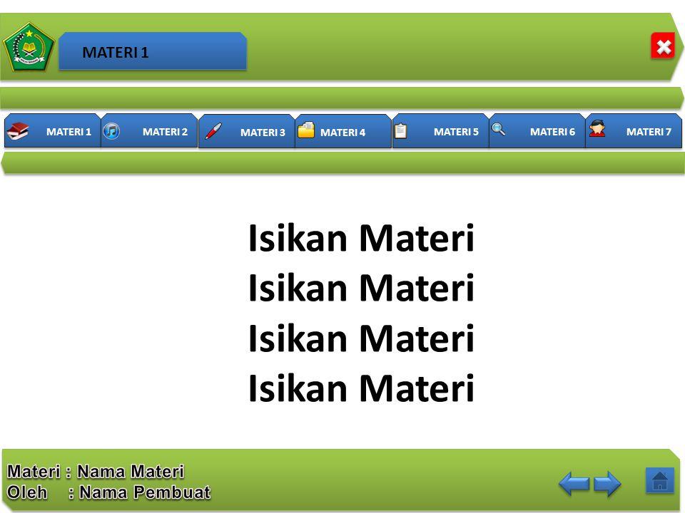MATERI 1 Isikan Materi