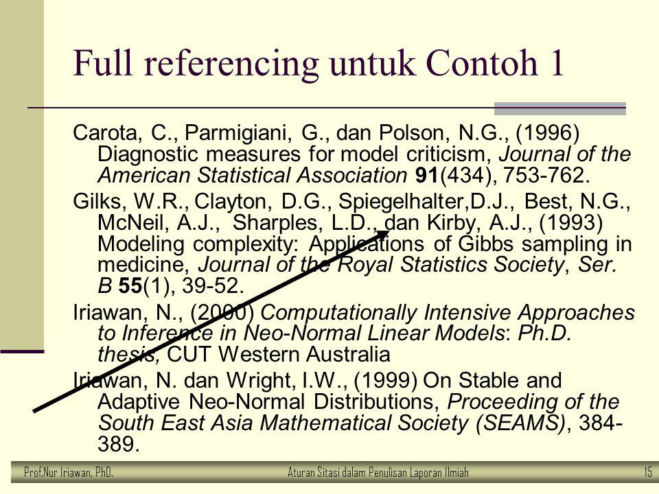 Full referencing untuk Contoh 1
