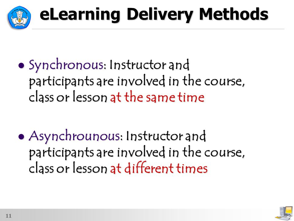 eLearning Delivery Methods