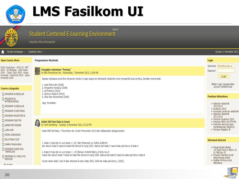 LMS Fasilkom UI