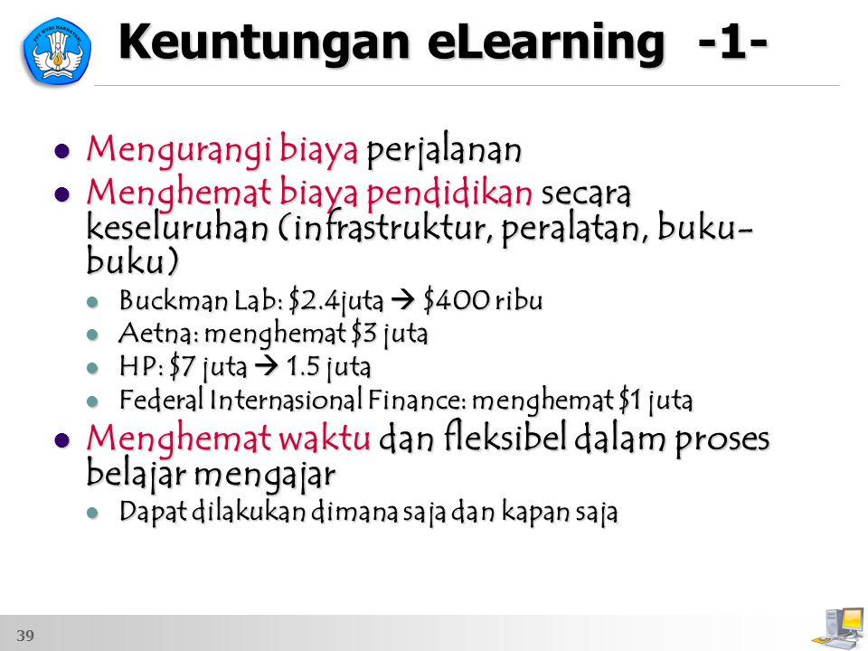 Keuntungan eLearning -1-