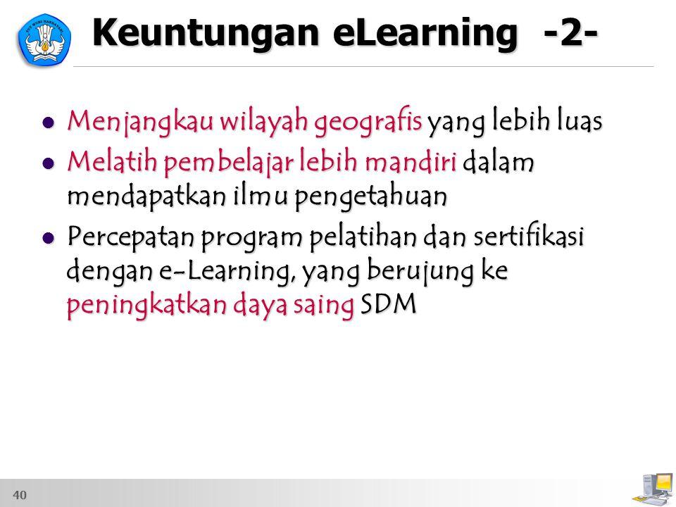 Keuntungan eLearning -2-