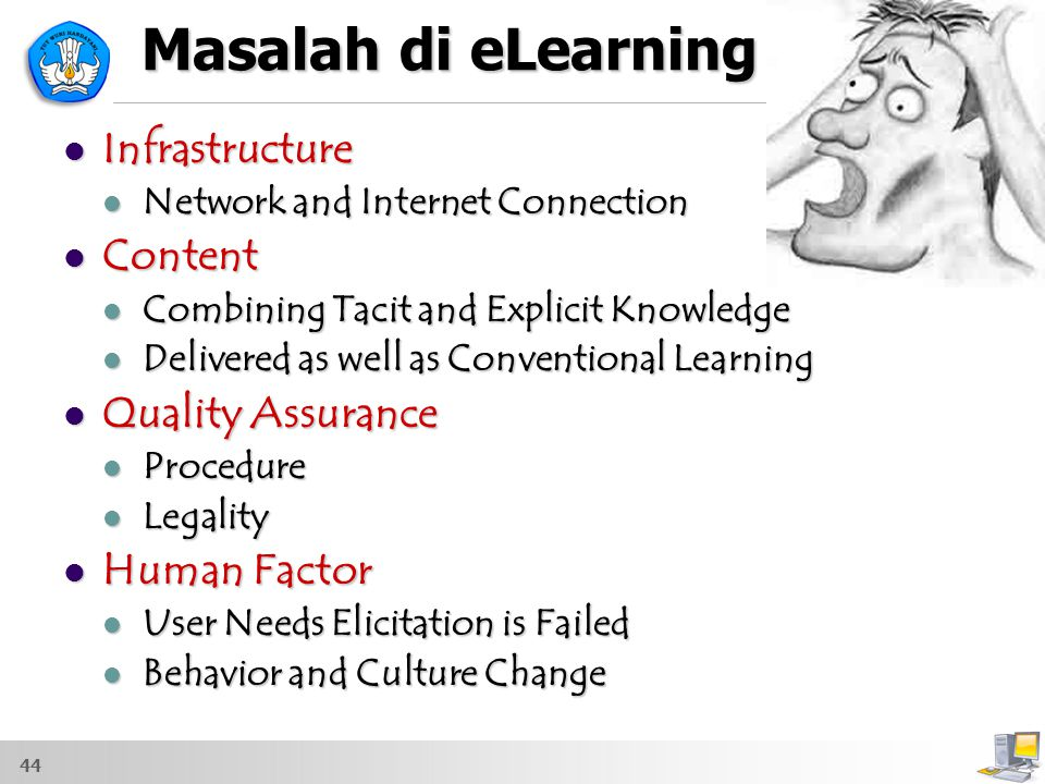 Masalah di eLearning Infrastructure Content Quality Assurance