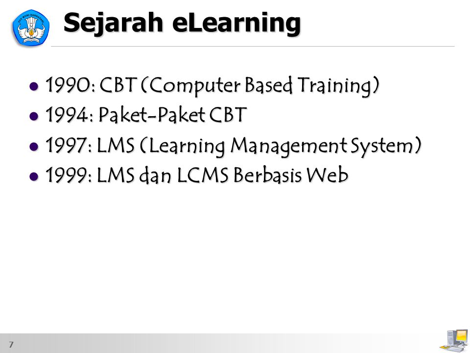 Sejarah eLearning 1990: CBT (Computer Based Training)