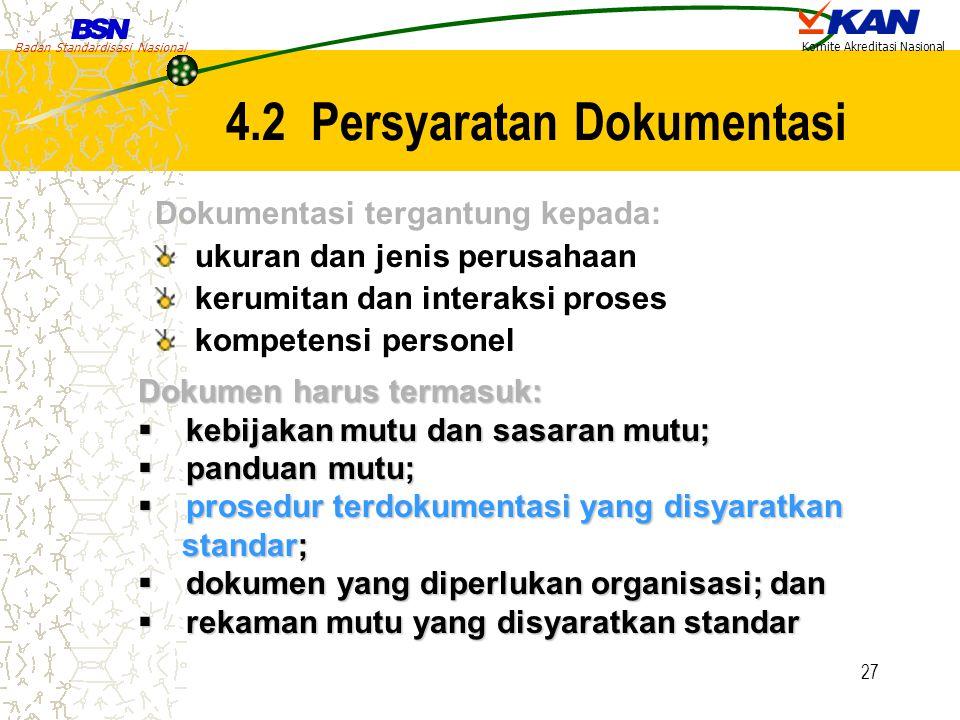 4.2 Persyaratan Dokumentasi