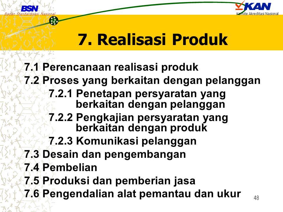 7. Realisasi Produk 7.1 Perencanaan realisasi produk