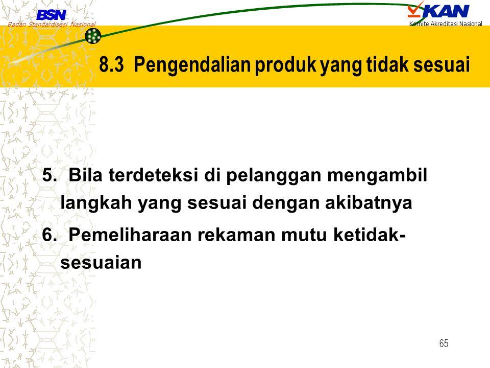 8.3 Pengendalian produk yang tidak sesuai