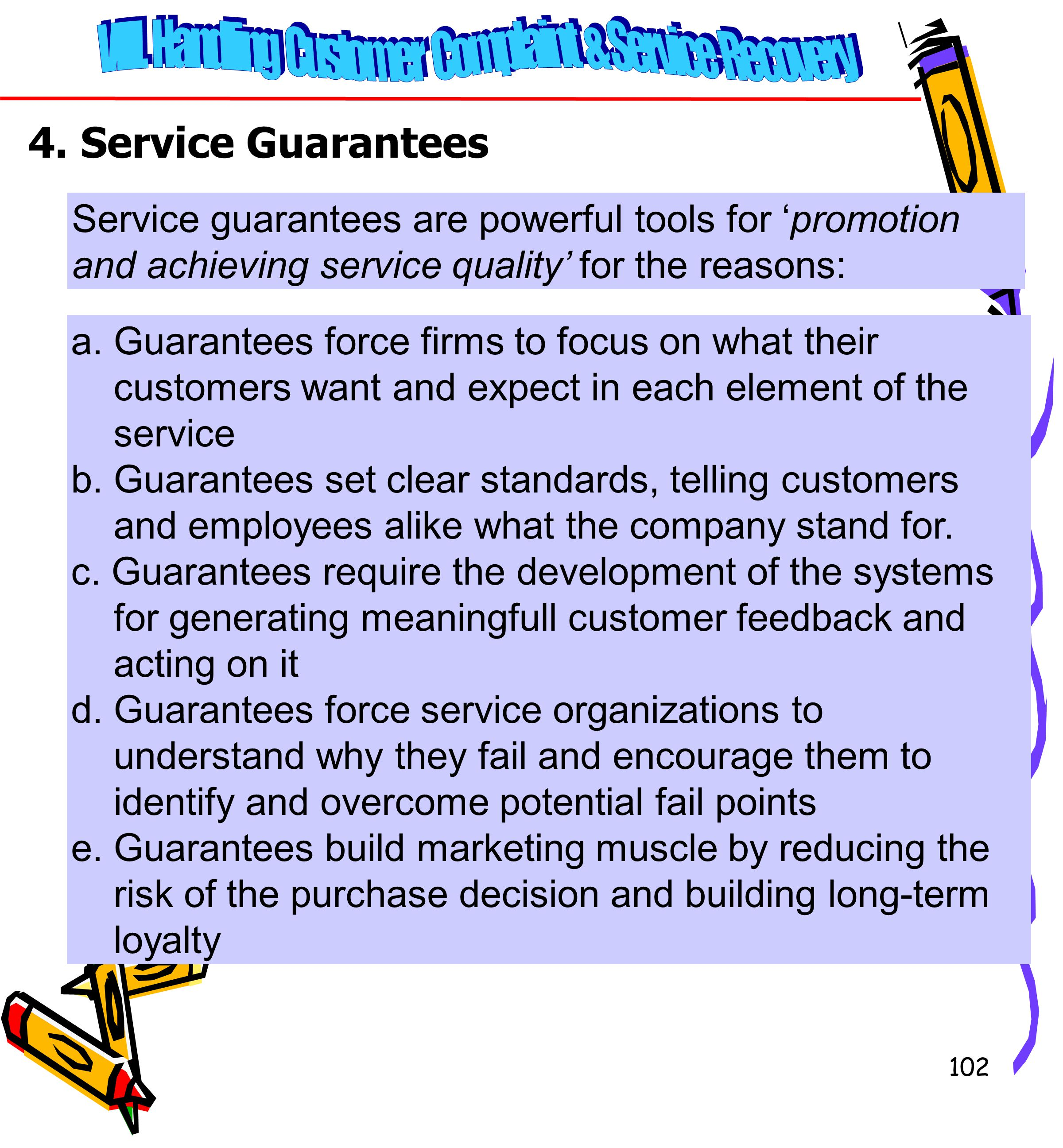 VIII. Handling Customer Complaint & Service Recovery