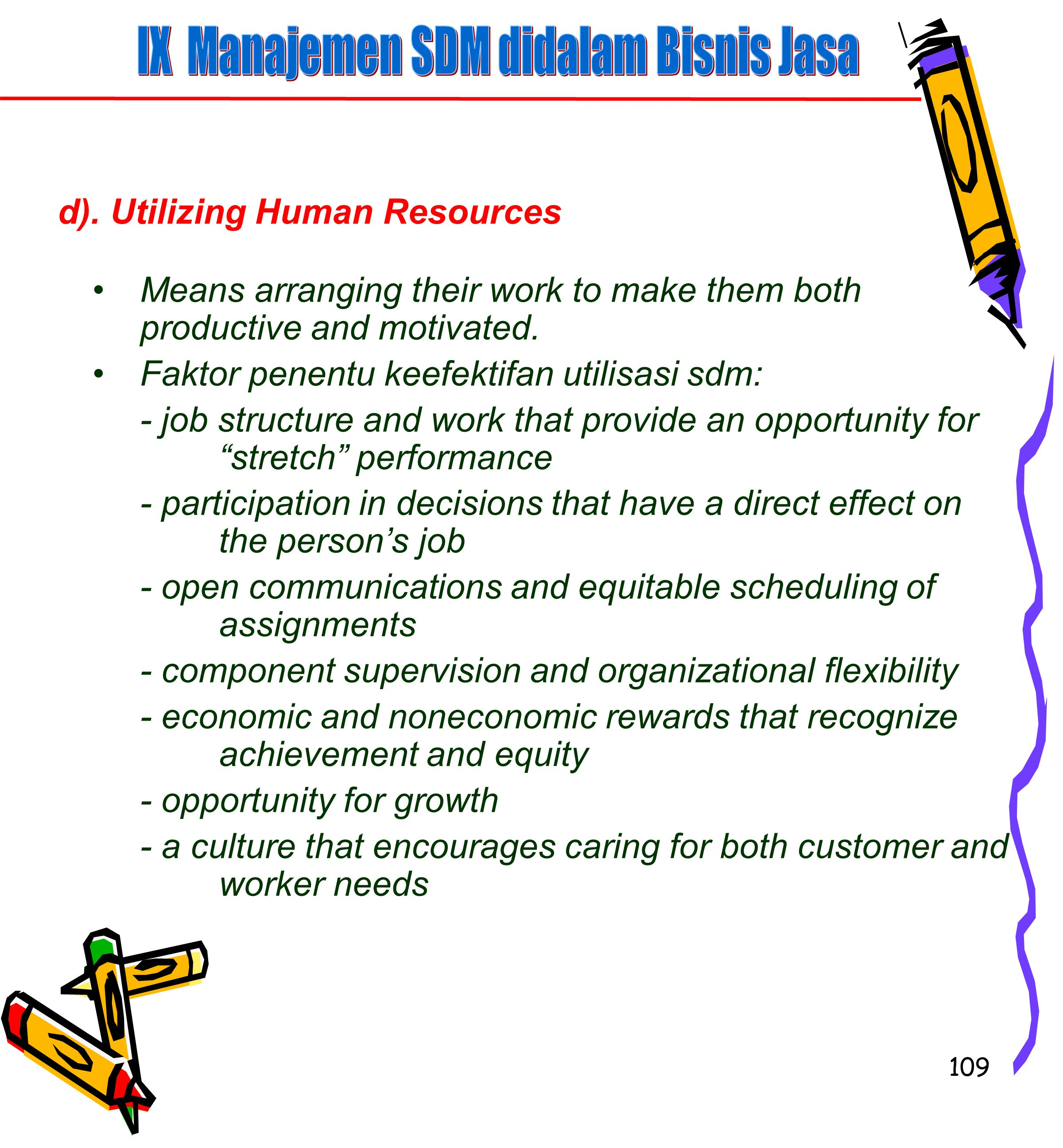 IX Manajemen SDM didalam Bisnis Jasa