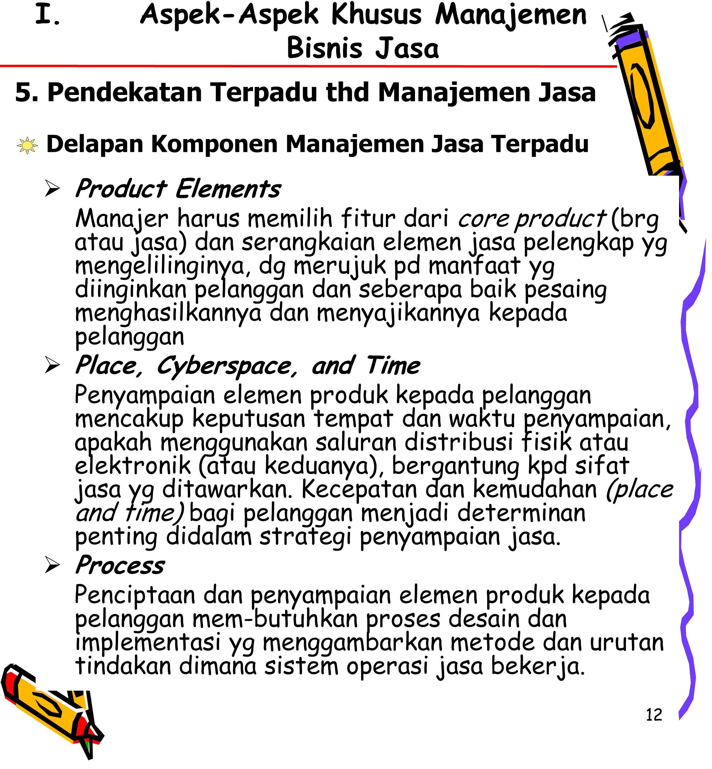 Aspek-Aspek Khusus Manajemen Bisnis Jasa