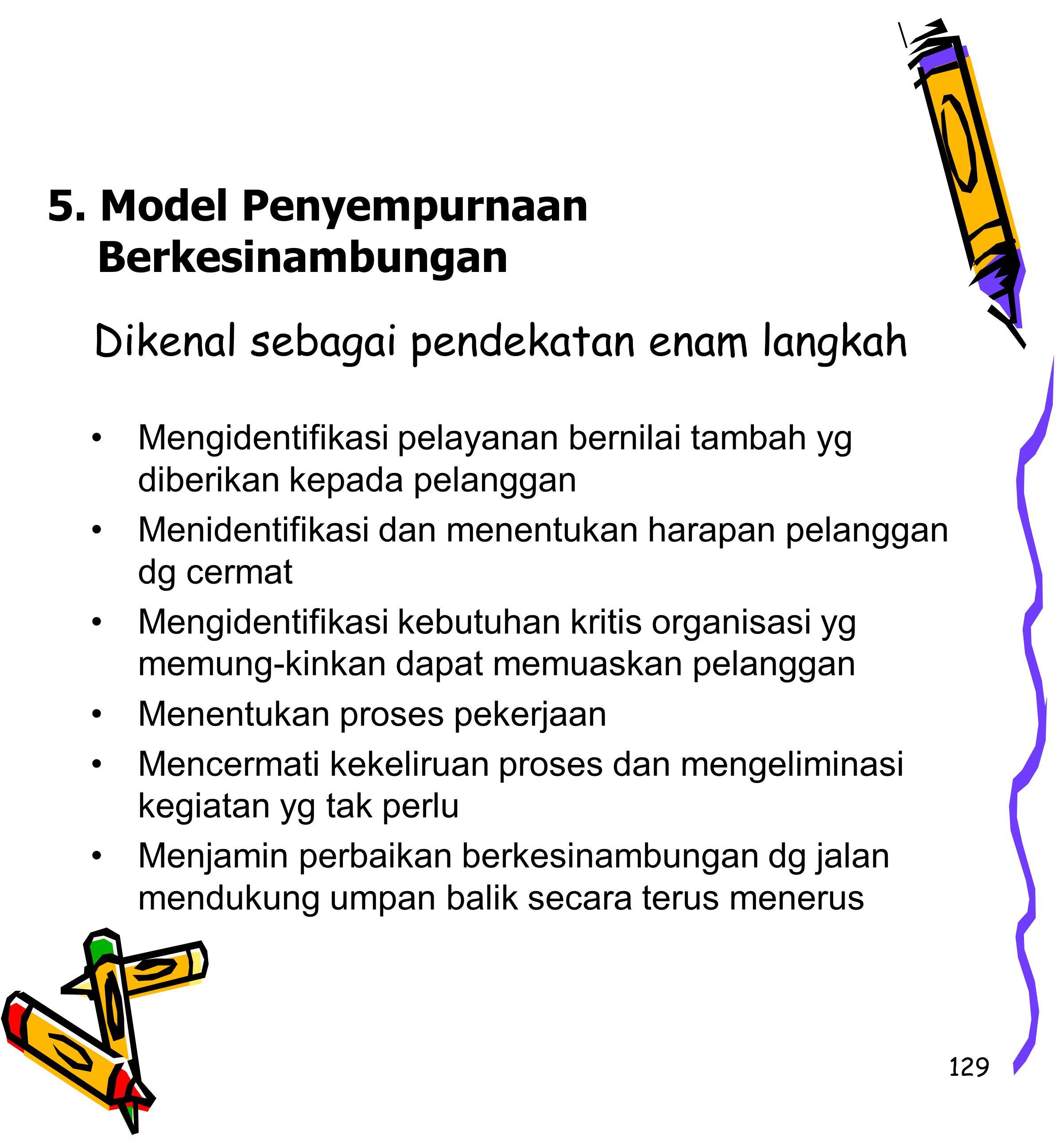 5. Model Penyempurnaan Berkesinambungan
