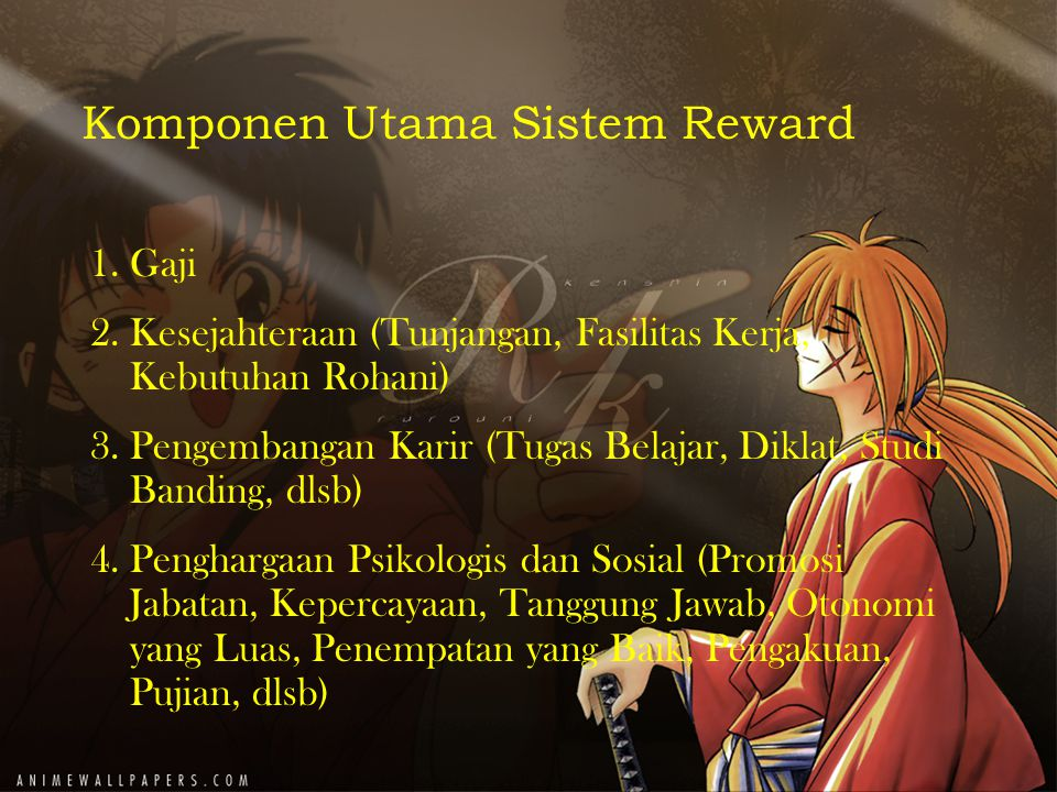 Komponen Utama Sistem Reward