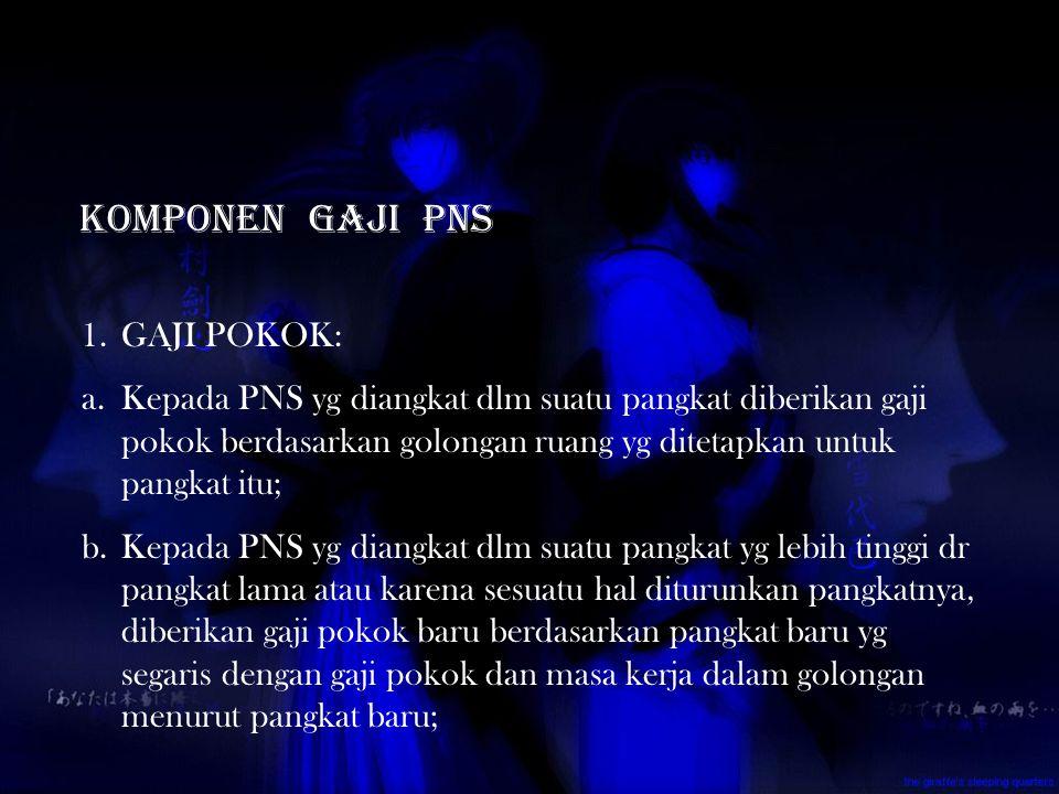 Komponen gaji pns GAJI POKOK: