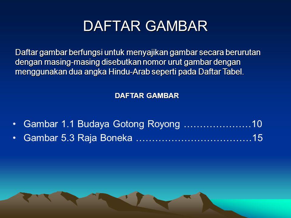 DAFTAR GAMBAR Gambar 1.1 Budaya Gotong Royong …………………10