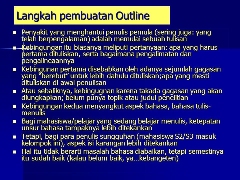 Langkah pembuatan Outline