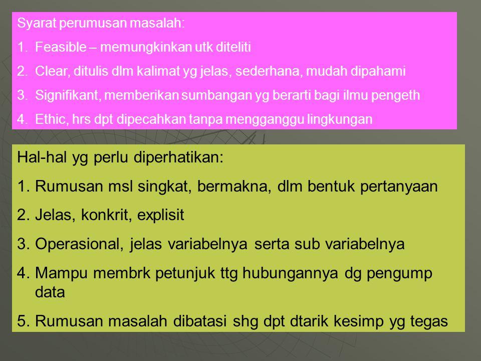 Hal-hal yg perlu diperhatikan: