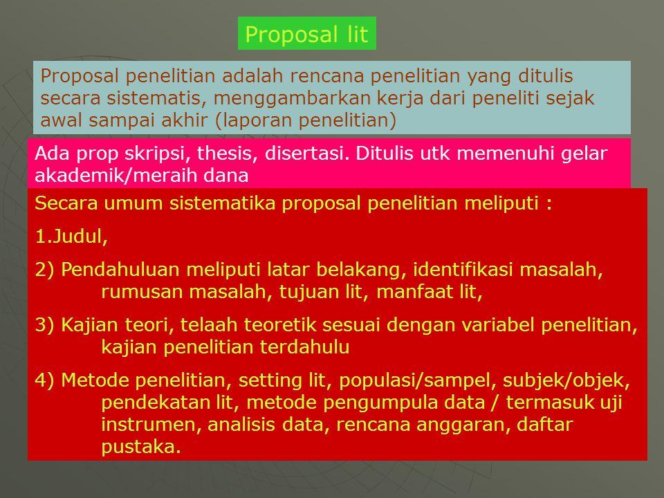 Proposal lit