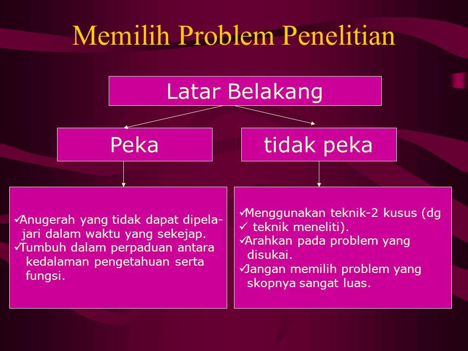 Memilih Problem Penelitian