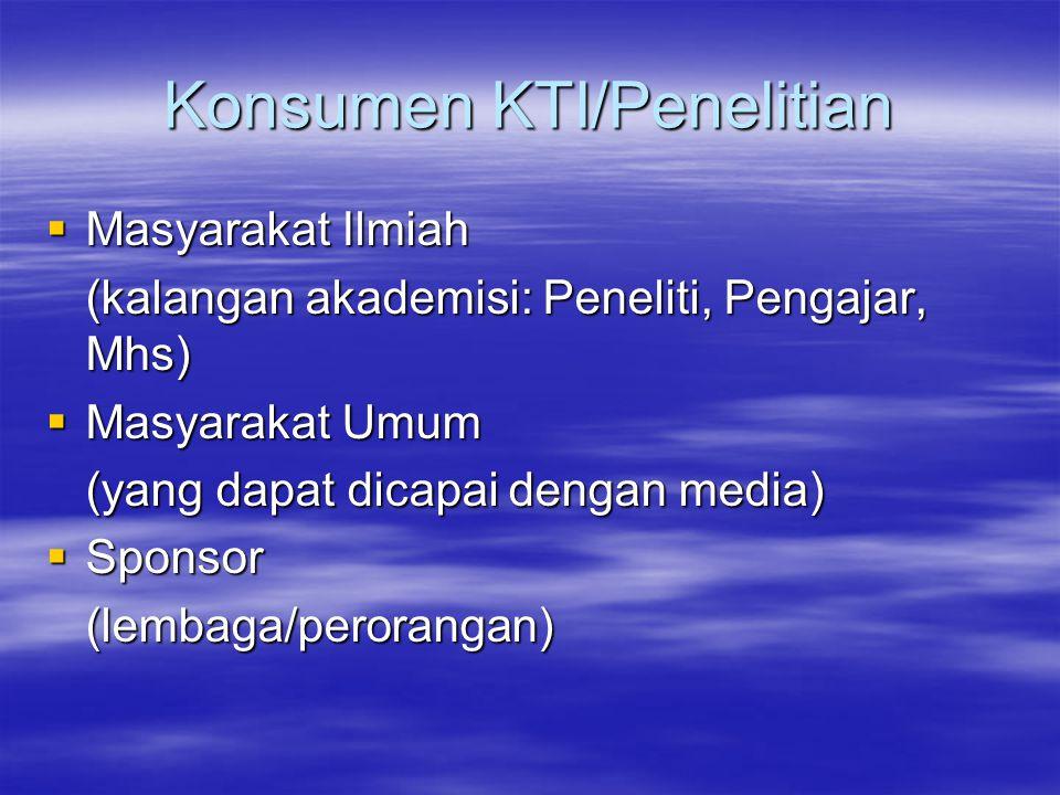 Konsumen KTI/Penelitian