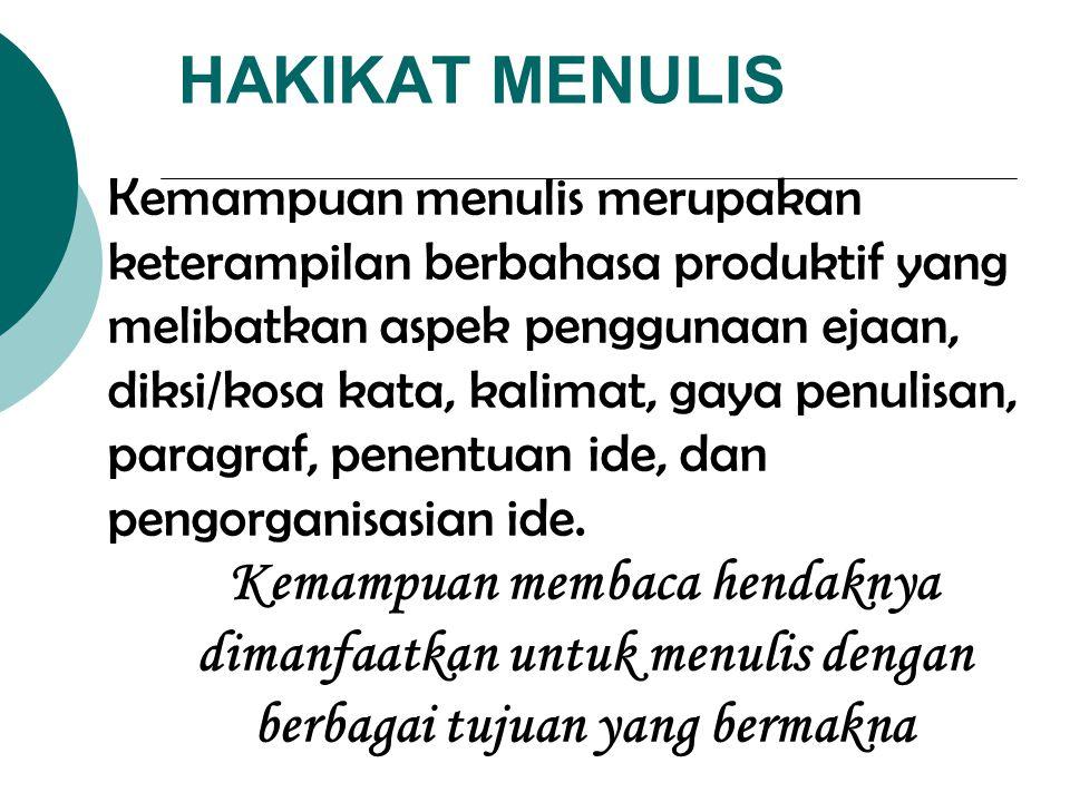 HAKIKAT MENULIS