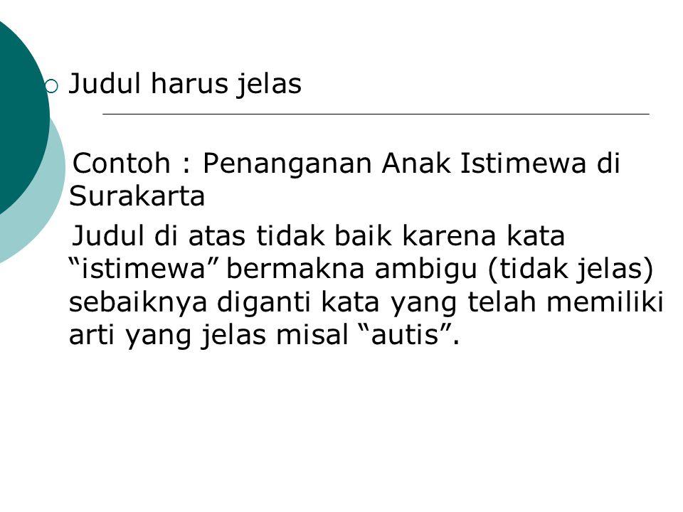 Contoh : Penanganan Anak Istimewa di Surakarta