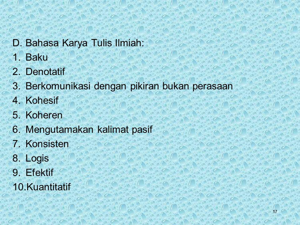 Bahasa Karya Tulis Ilmiah: