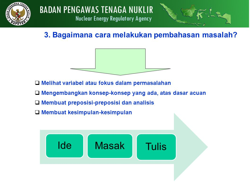 Ide Masak Tulis 3. Bagaimana cara melakukan pembahasan masalah