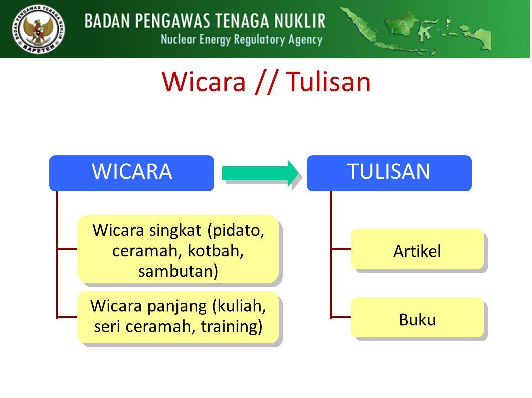 Wicara // Tulisan WICARA TULISAN