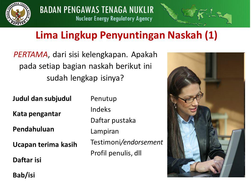 Lima Lingkup Penyuntingan Naskah (1)