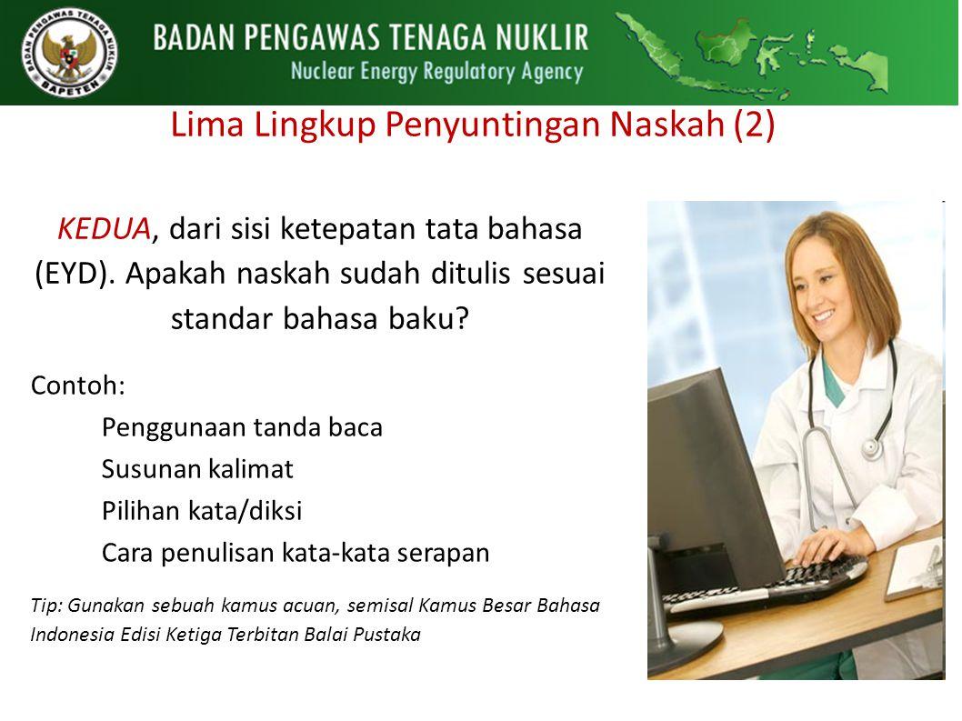 Lima Lingkup Penyuntingan Naskah (2)