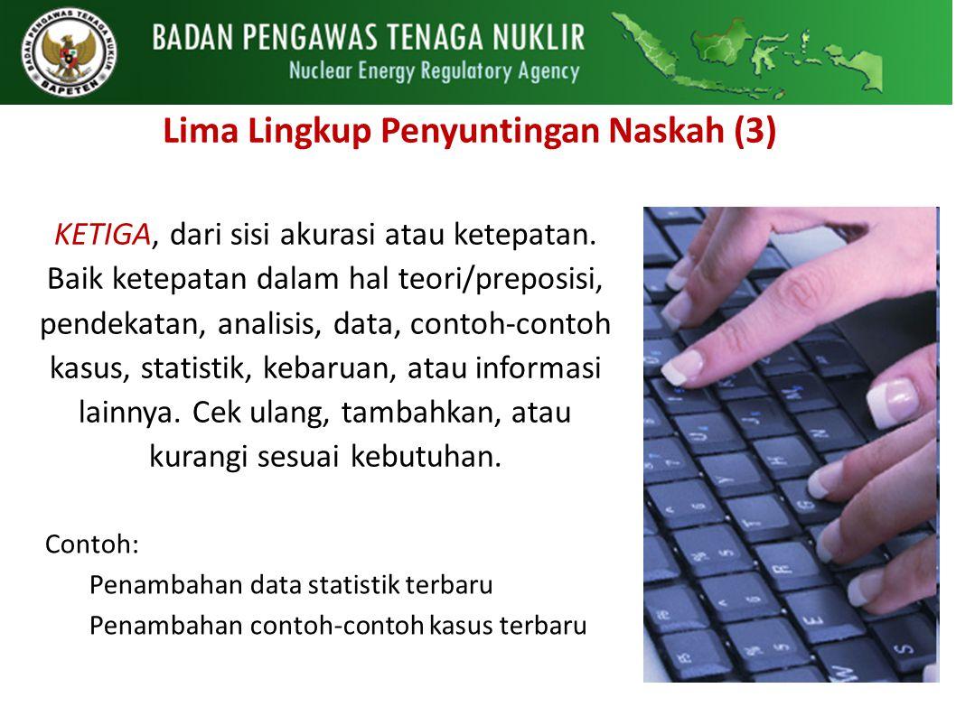 Lima Lingkup Penyuntingan Naskah (3)