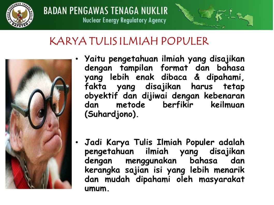 KARYA TULIS ILMIAH POPULER