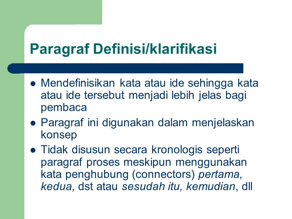 Paragraf Definisi/klarifikasi