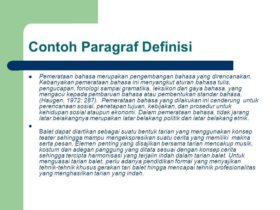 Contoh Paragraf Definisi