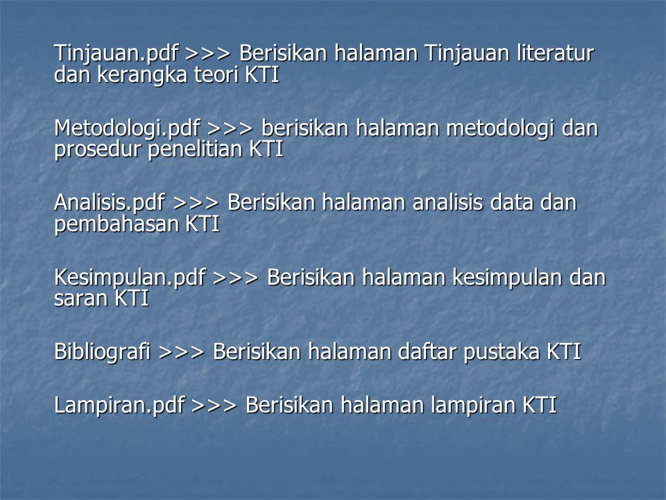 Kesimpulan.pdf >>> Berisikan halaman kesimpulan dan saran KTI