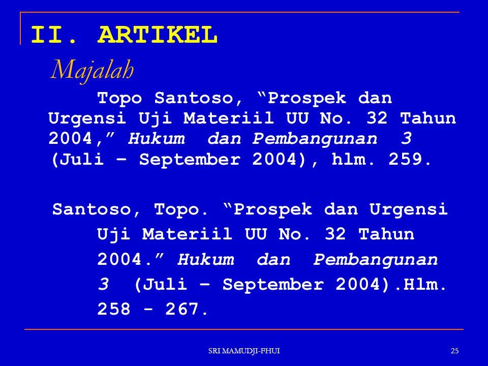 II. ARTIKEL Majalah