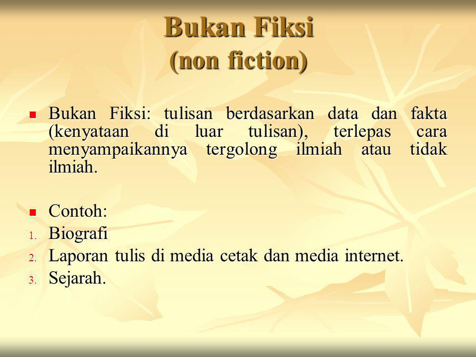 Bukan Fiksi (non fiction)
