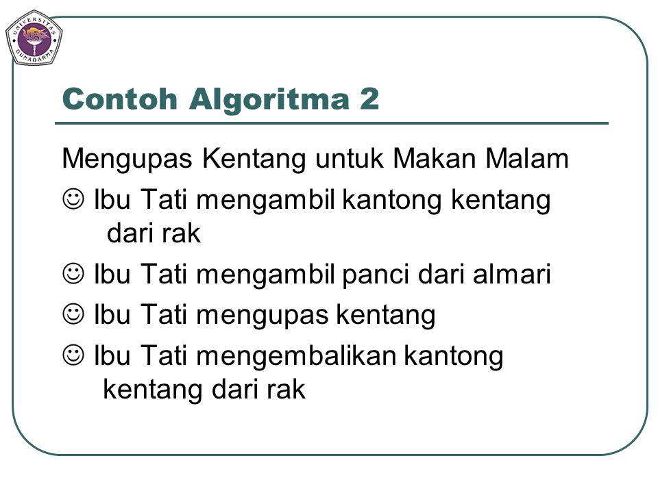 Contoh Algoritma 2 Mengupas Kentang untuk Makan Malam