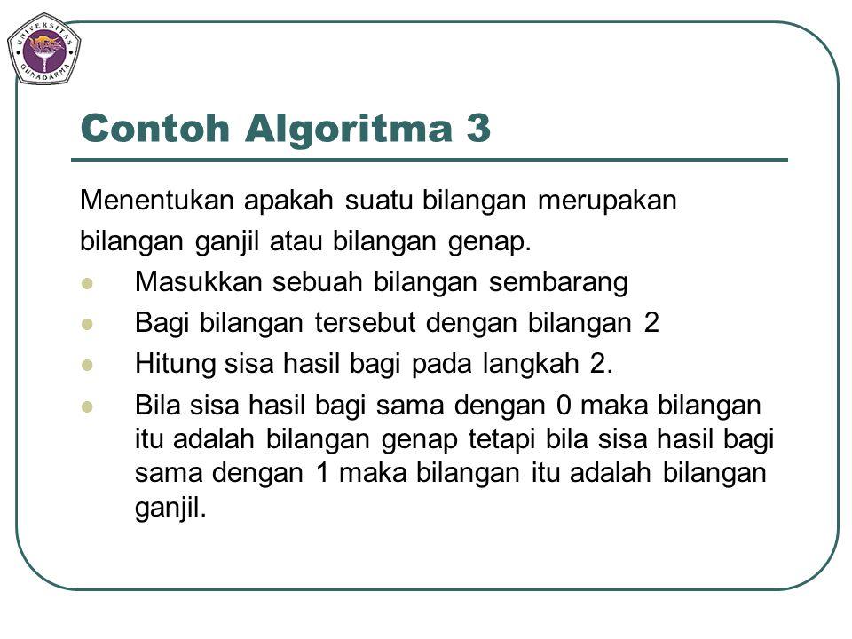 Contoh Algoritma 3 Menentukan apakah suatu bilangan merupakan
