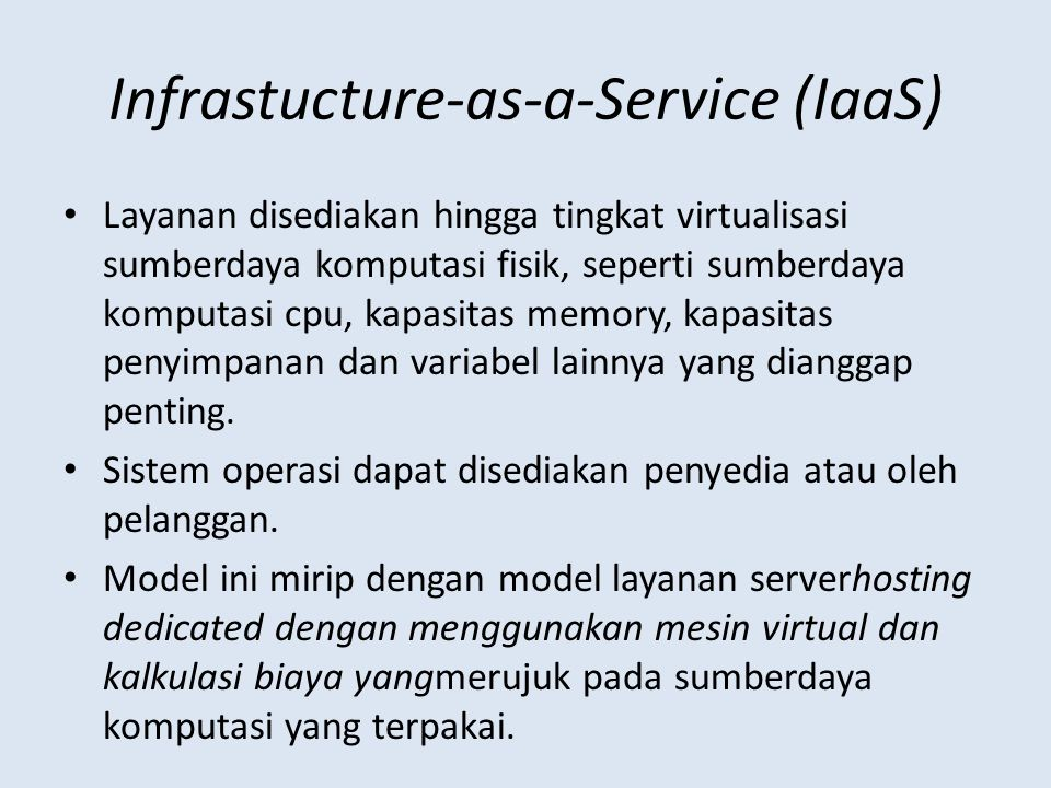 Infrastucture-as-a-Service (IaaS)