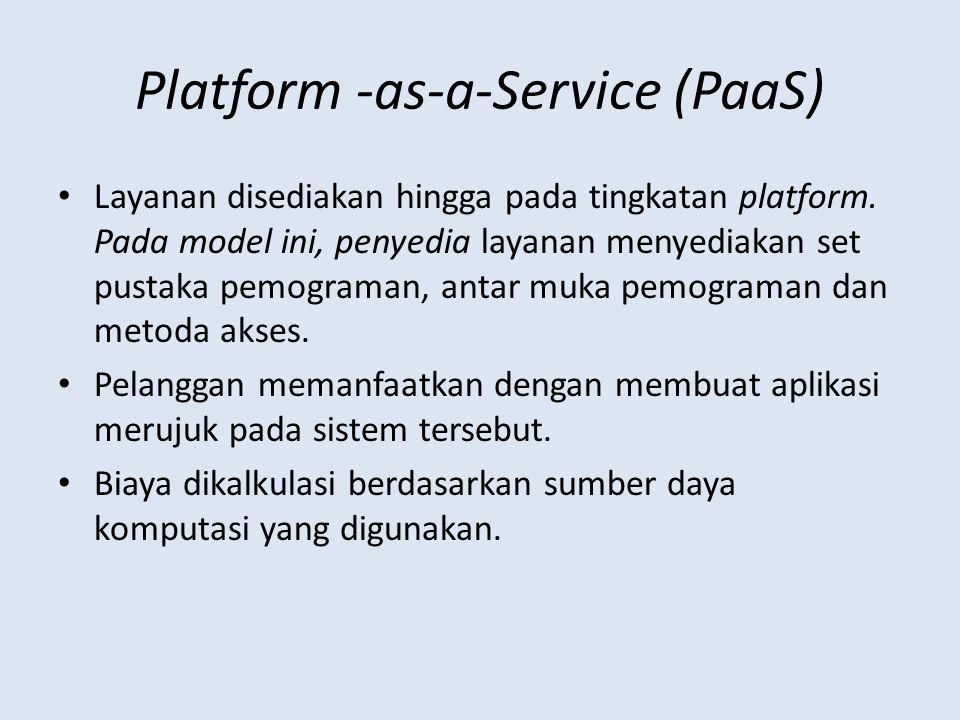Platform -as-a-Service (PaaS)