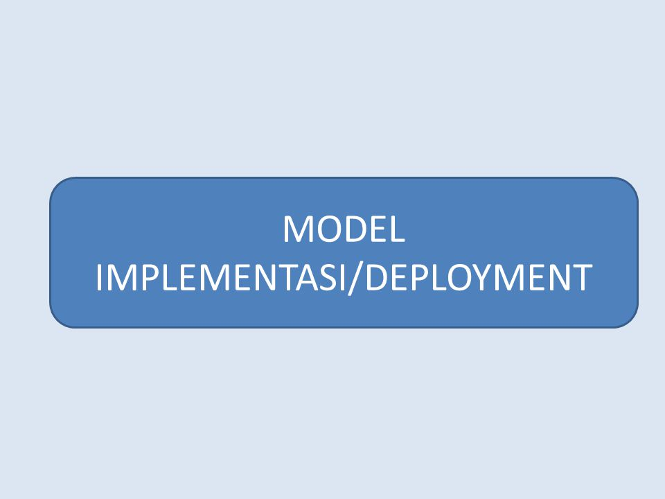 MODEL IMPLEMENTASI/DEPLOYMENT