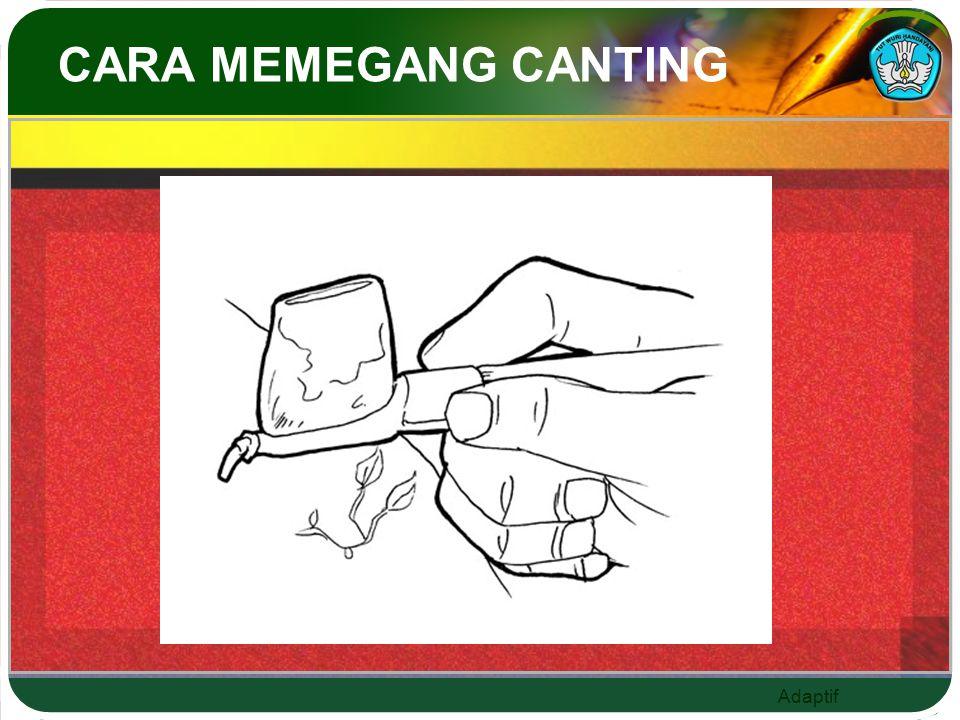 CARA MEMEGANG CANTING