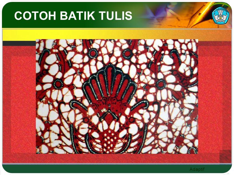 COTOH BATIK TULIS