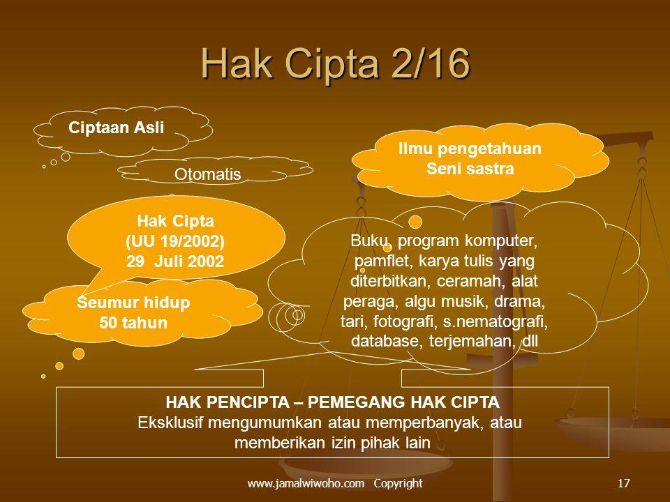 HAK PENCIPTA – PEMEGANG HAK CIPTA