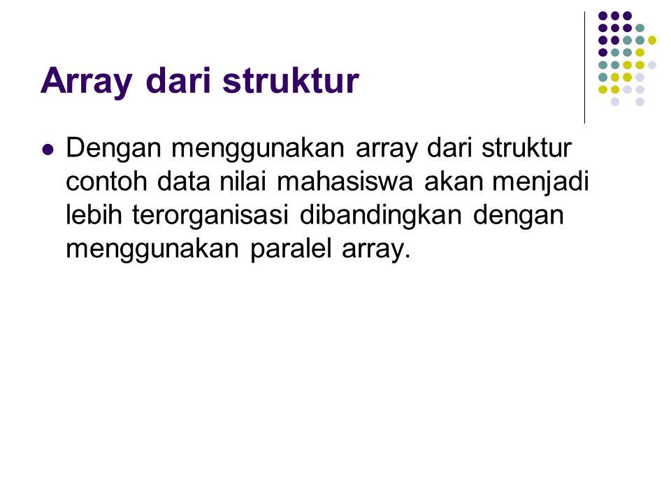 Array dari struktur