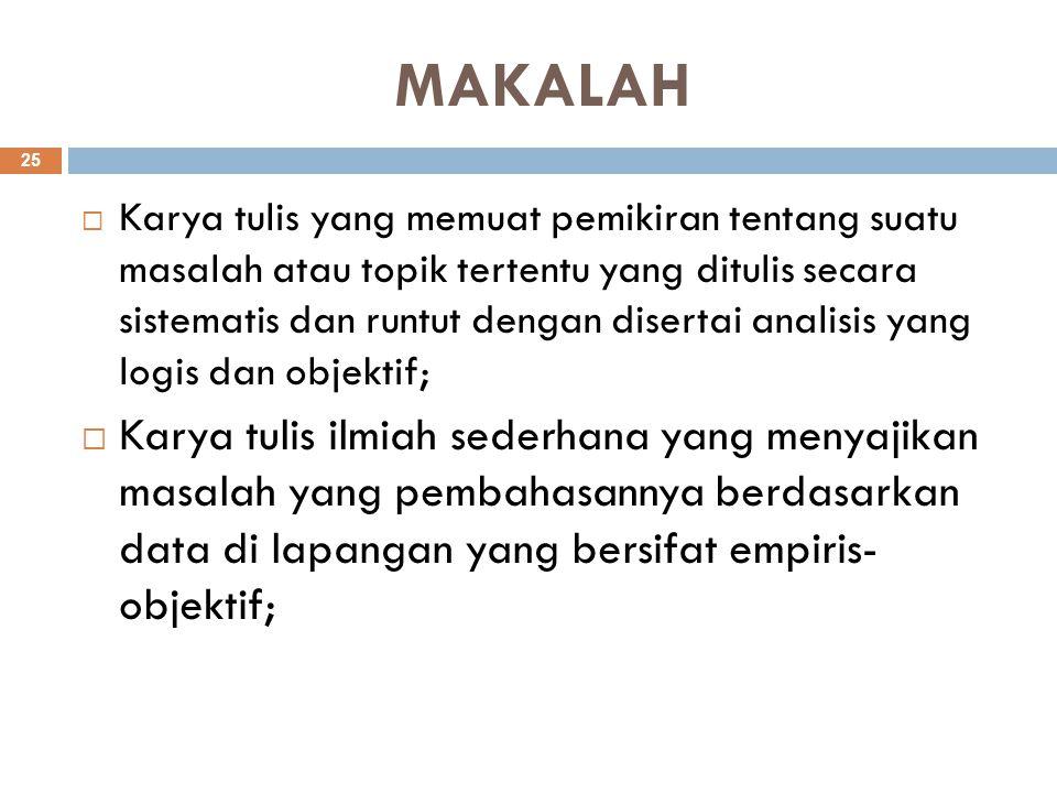 MAKALAH
