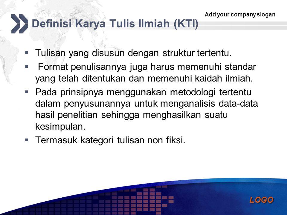Definisi Karya Tulis Ilmiah (KTI)