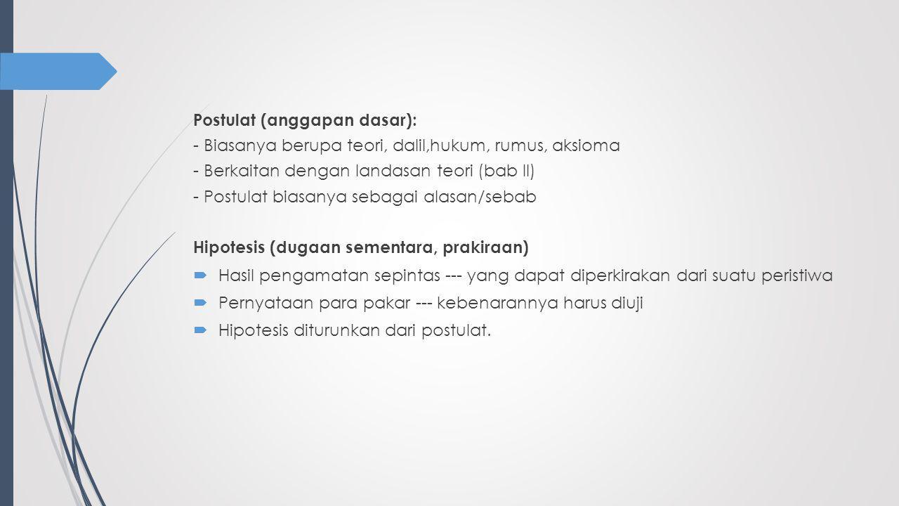 Postulat (anggapan dasar):