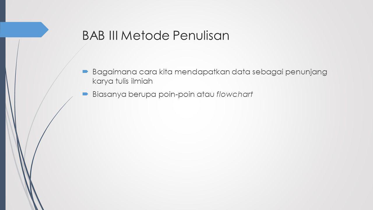 BAB III Metode Penulisan